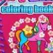 Coloring book with unicorns and horses