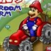 Mario cu tractorul la ferma de ciuperci