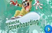 Planche à neige sur avalanche